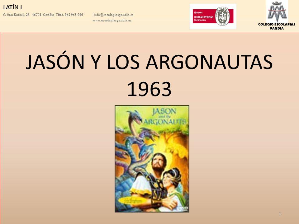 JASÓN Y LOS ARGONAUTAS 1963 LATÍN I