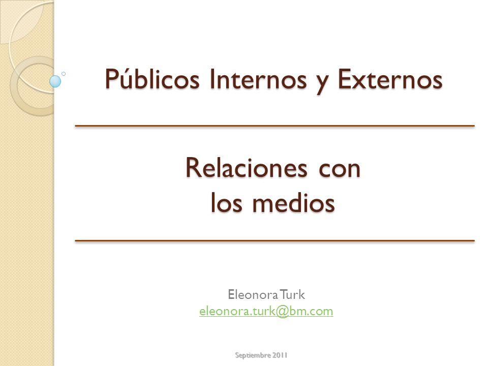Públicos Internos y Externos