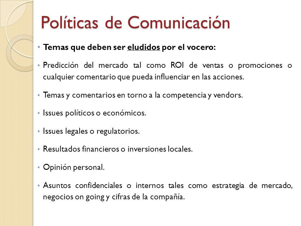 Políticas de Comunicación