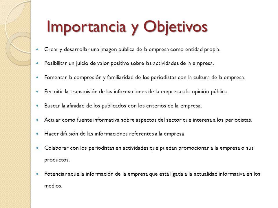 Importancia y Objetivos
