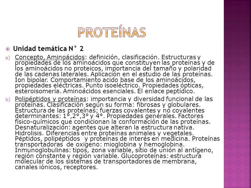 Proteínas Unidad temática N° 2