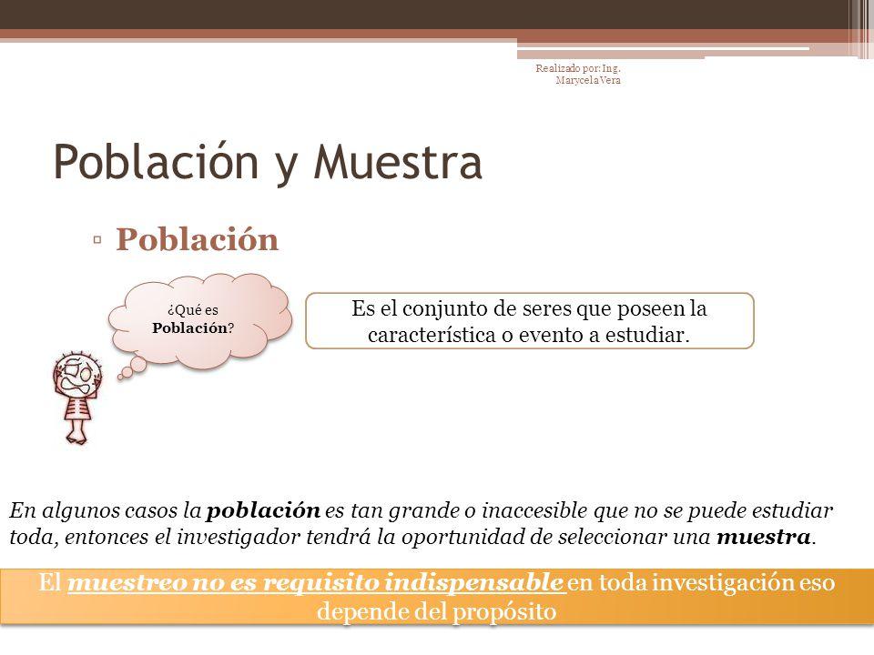 Población y Muestra Población