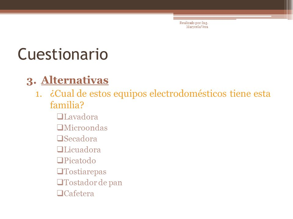 Cuestionario Alternativas