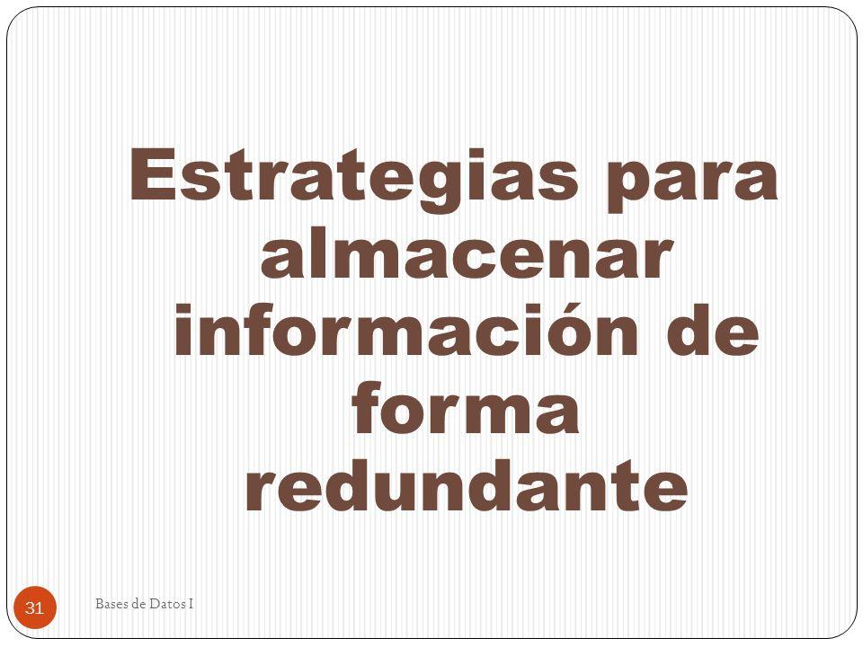 Estrategias para almacenar información de forma redundante
