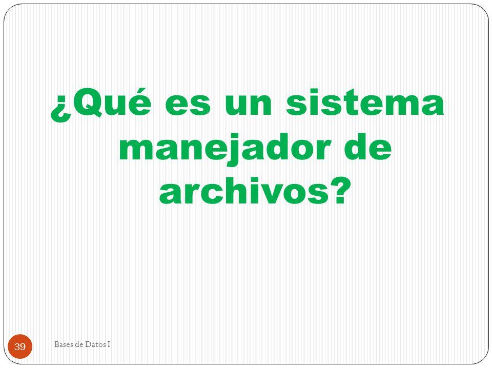¿Qué es un sistema manejador de archivos