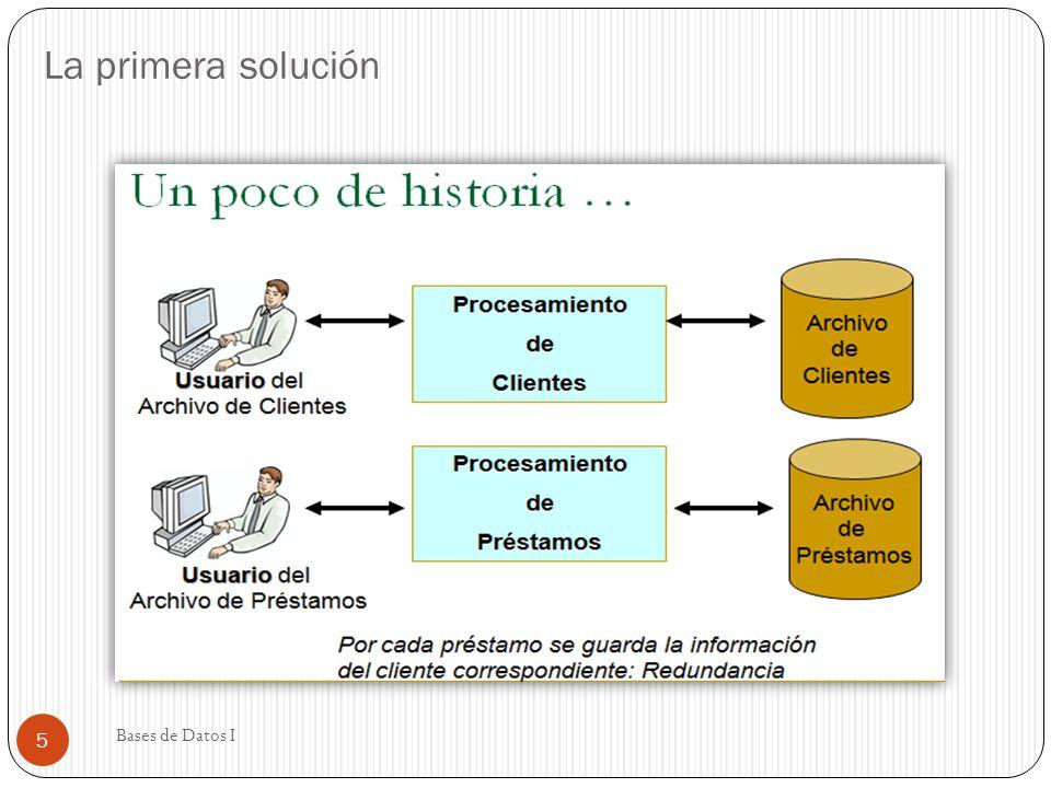 La primera solución Bases de Datos I