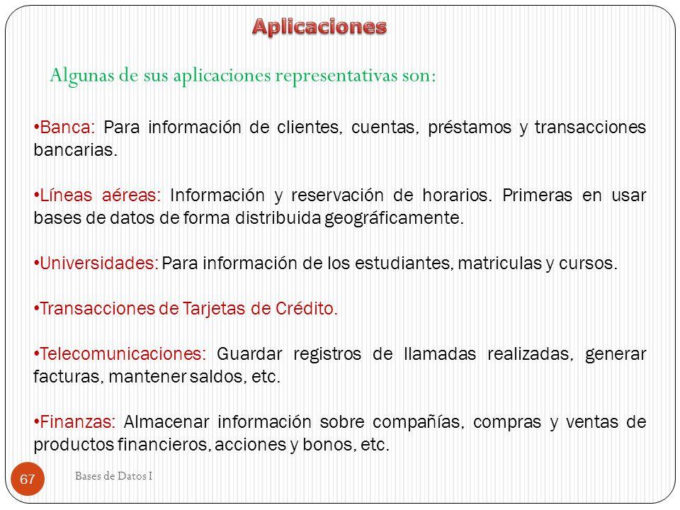 Algunas de sus aplicaciones representativas son: