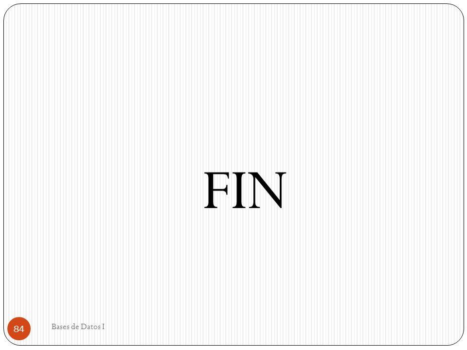 FIN Bases de Datos I