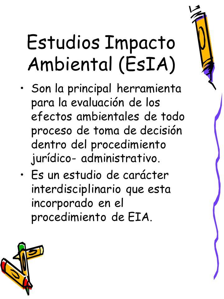 Estudios Impacto Ambiental (EsIA)