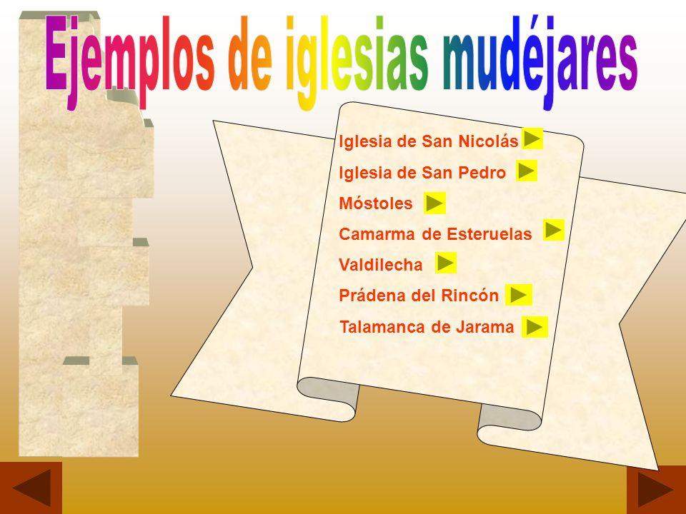 Ejemplos de iglesias mudéjares