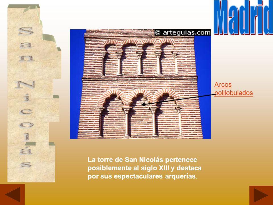 Madrid San Nicolás Arcos polilobulados