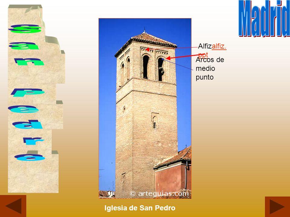 Madrid San Pedro Alfizalfiz.ppt Arcos de medio punto