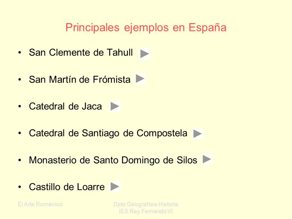 Principales ejemplos en España