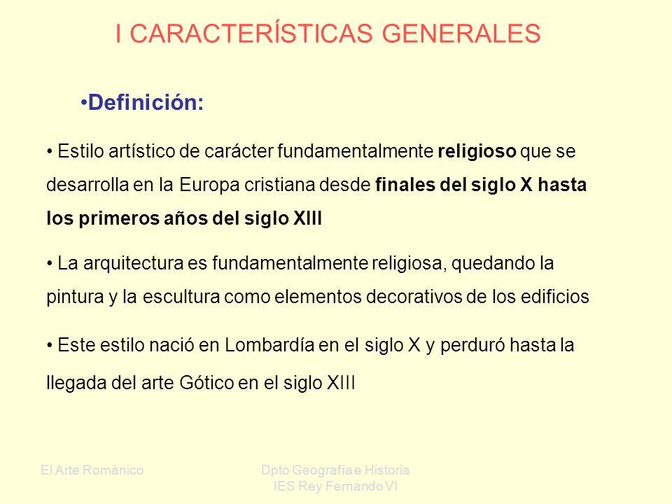 I CARACTERÍSTICAS GENERALES