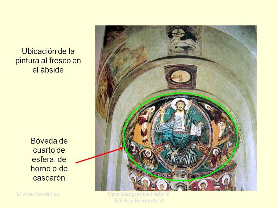 Ubicación de la pintura al fresco en el ábside