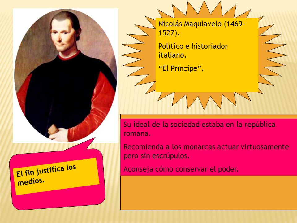 Nicolás Maquiavelo (1469-1527).