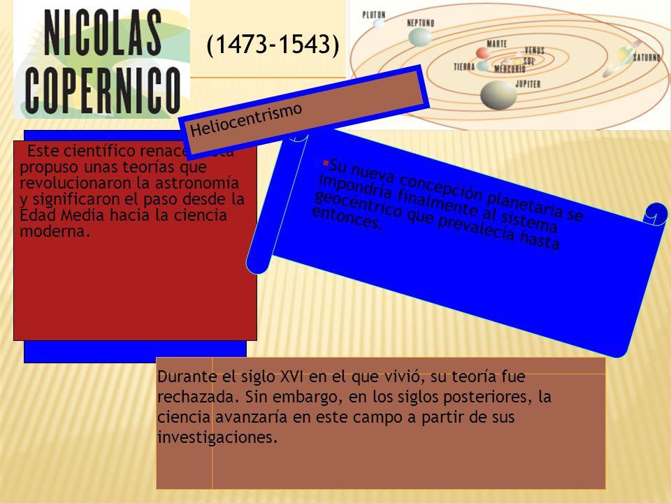 (1473-1543) Heliocentrismo.