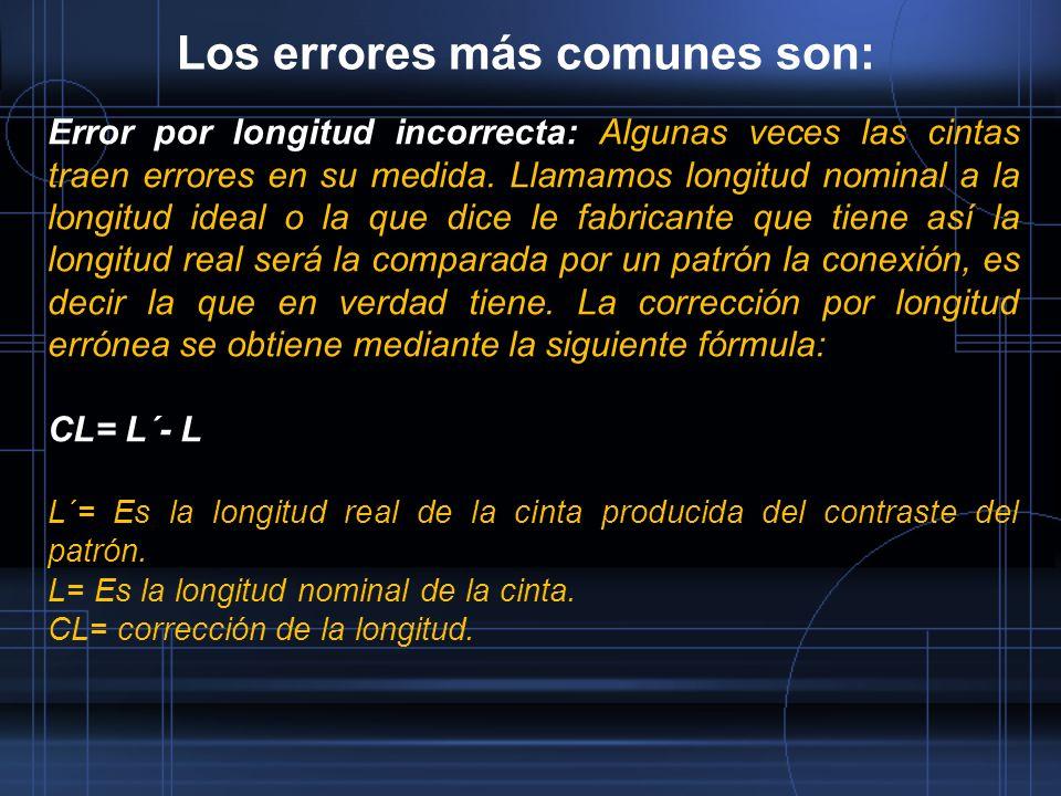 Los errores más comunes son:
