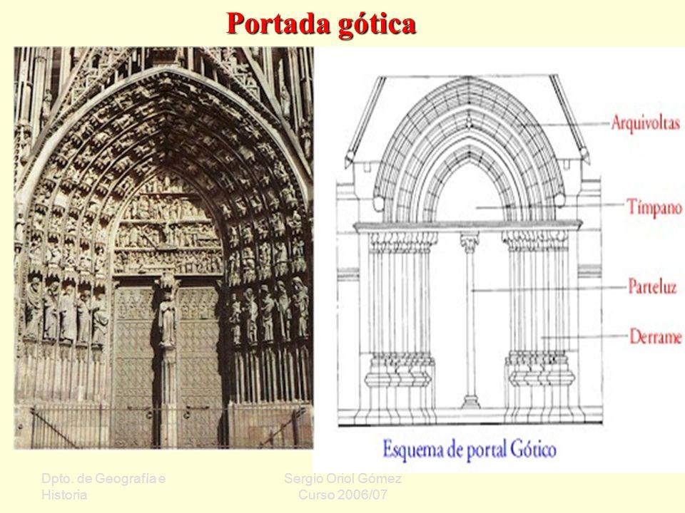 Portada gótica Dpto. de Geografía e Historia Sergio Oriol Gómez