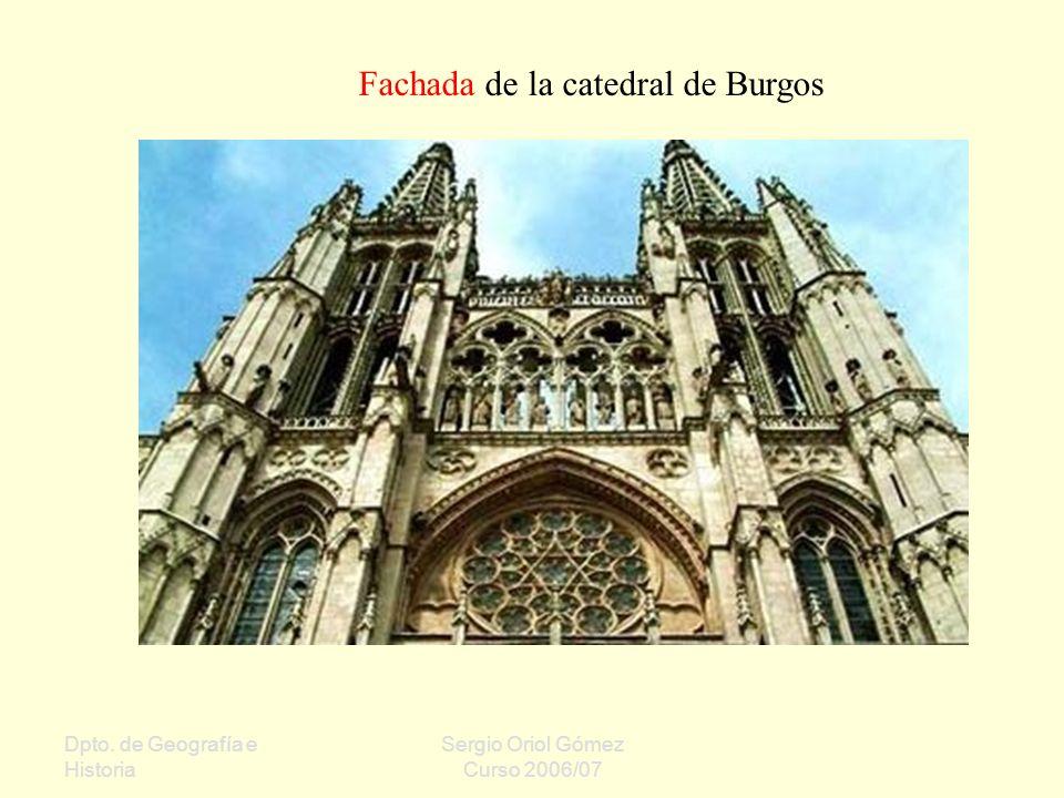 Fachada de la catedral de Burgos
