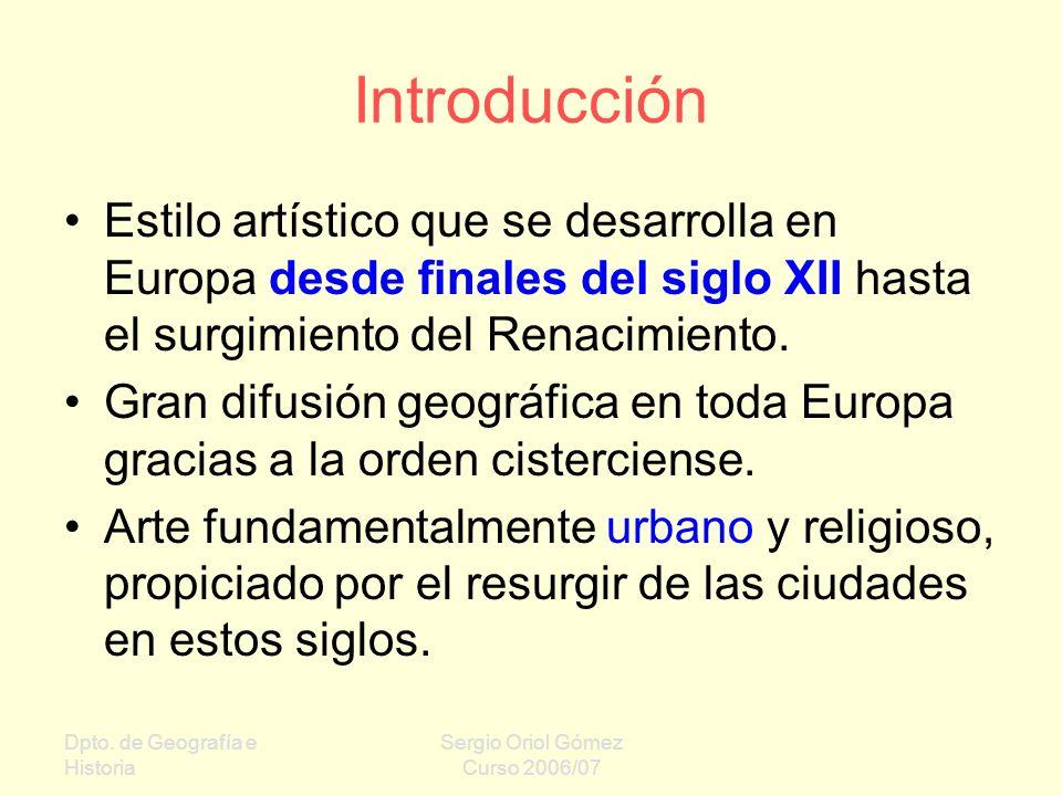 Introducción Estilo artístico que se desarrolla en Europa desde finales del siglo XII hasta el surgimiento del Renacimiento.
