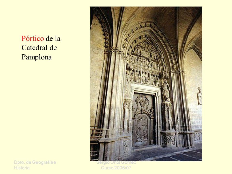 Pórtico de la Catedral de Pamplona