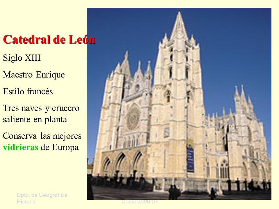 Catedral de León Siglo XIII Maestro Enrique Estilo francés