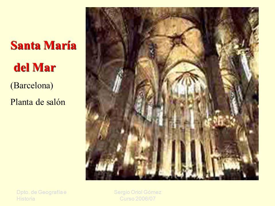 Santa María del Mar (Barcelona) Planta de salón