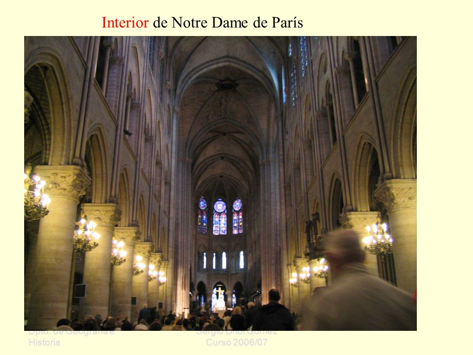 Interior de Notre Dame de París