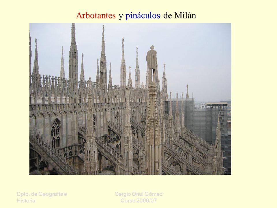 Arbotantes y pináculos de Milán