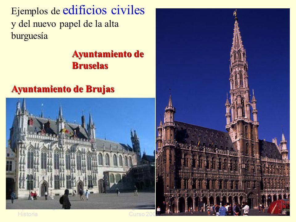 Ejemplos de edificios civiles y del nuevo papel de la alta burguesía