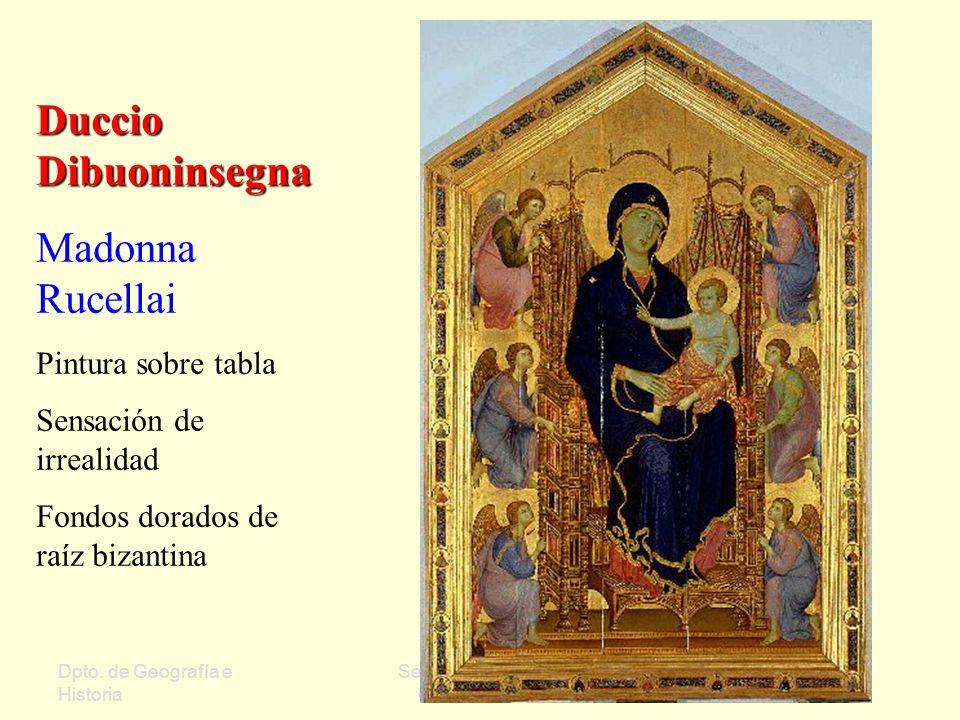 Duccio Dibuoninsegna Madonna Rucellai Pintura sobre tabla