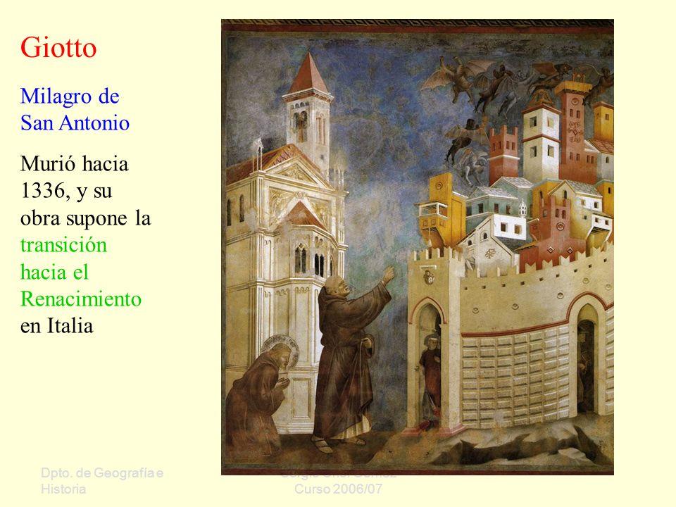 Giotto Milagro de San Antonio