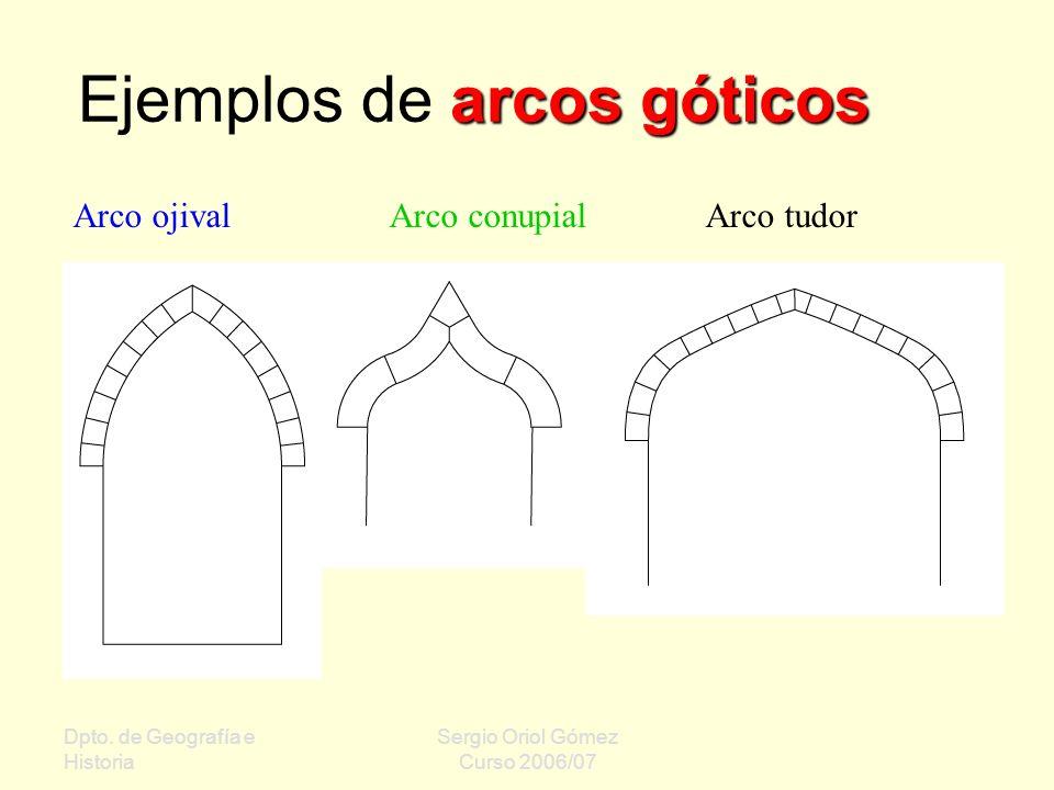 Ejemplos de arcos góticos