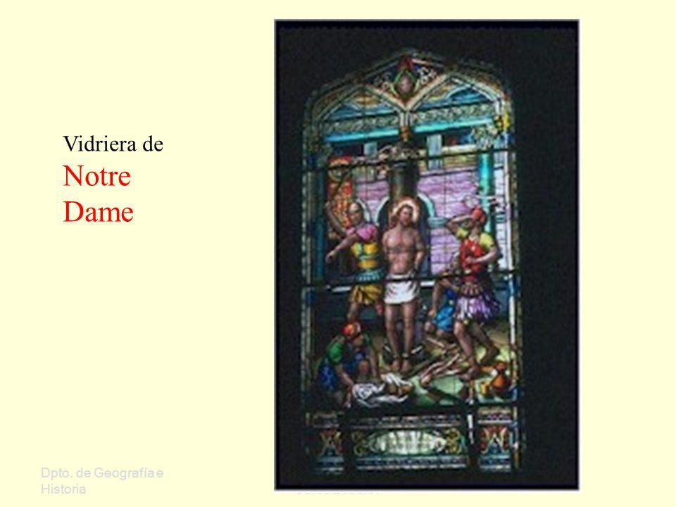 Vidriera de Notre Dame Dpto. de Geografía e Historia