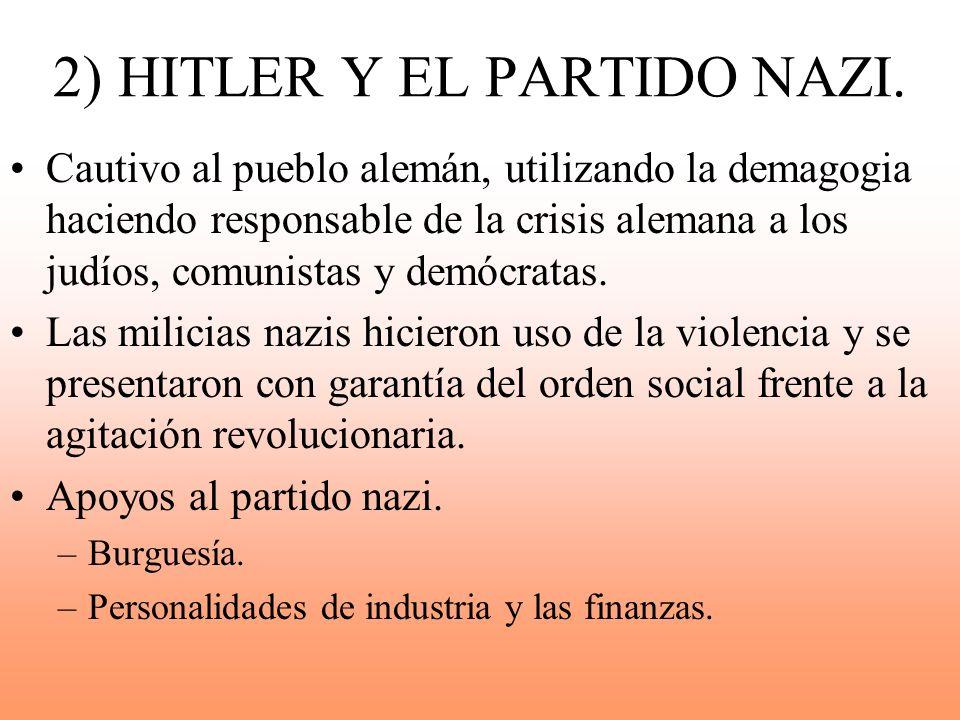 2) HITLER Y EL PARTIDO NAZI.