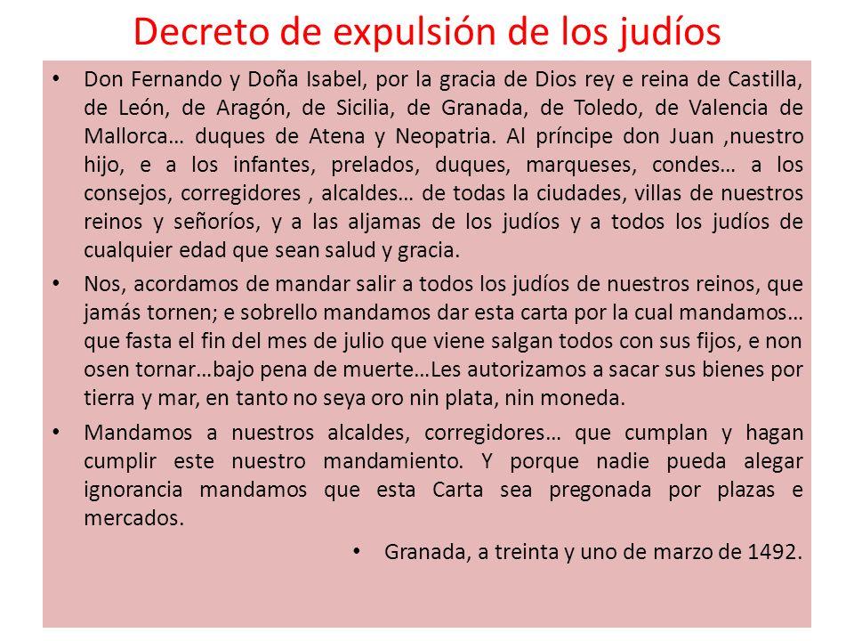 Decreto de expulsión de los judíos