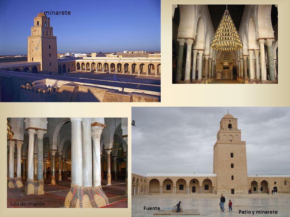 minarete sahn Sala de oración Fuente Patio y minarete