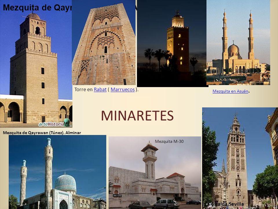 MINARETES Mezquita de Qayrawan (Túnez). Alminar