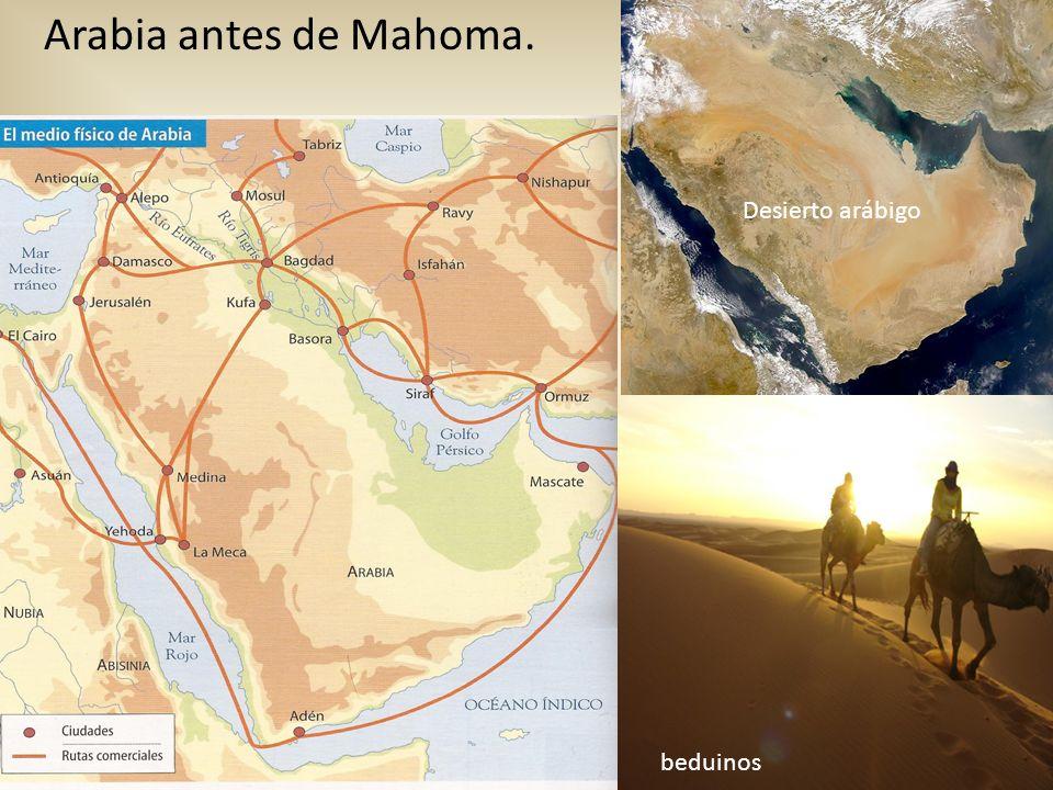 Arabia antes de Mahoma. Desierto arábigo beduinos
