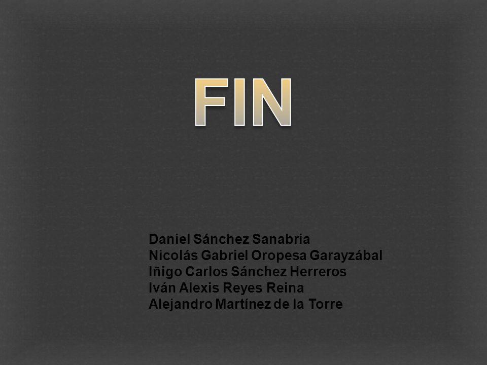 FIN Daniel Sánchez Sanabria Nicolás Gabriel Oropesa Garayzábal