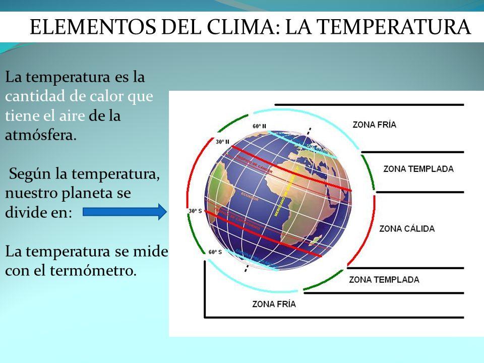 ELEMENTOS DEL CLIMA: LA TEMPERATURA