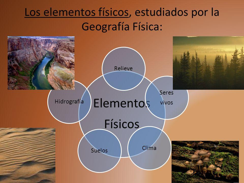 Los elementos físicos, estudiados por la Geografía Física: