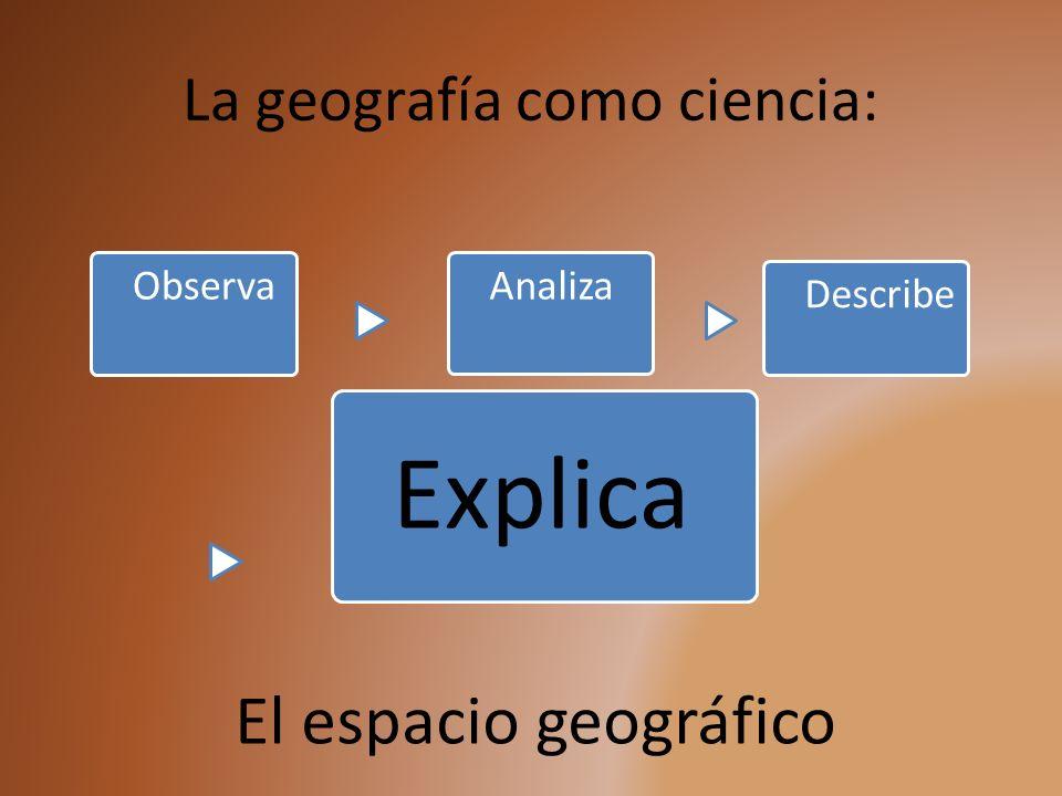 La geografía como ciencia: