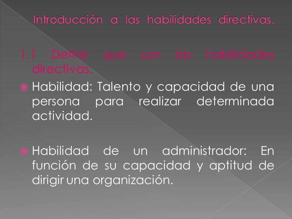 Introducción a las habilidades directivas.