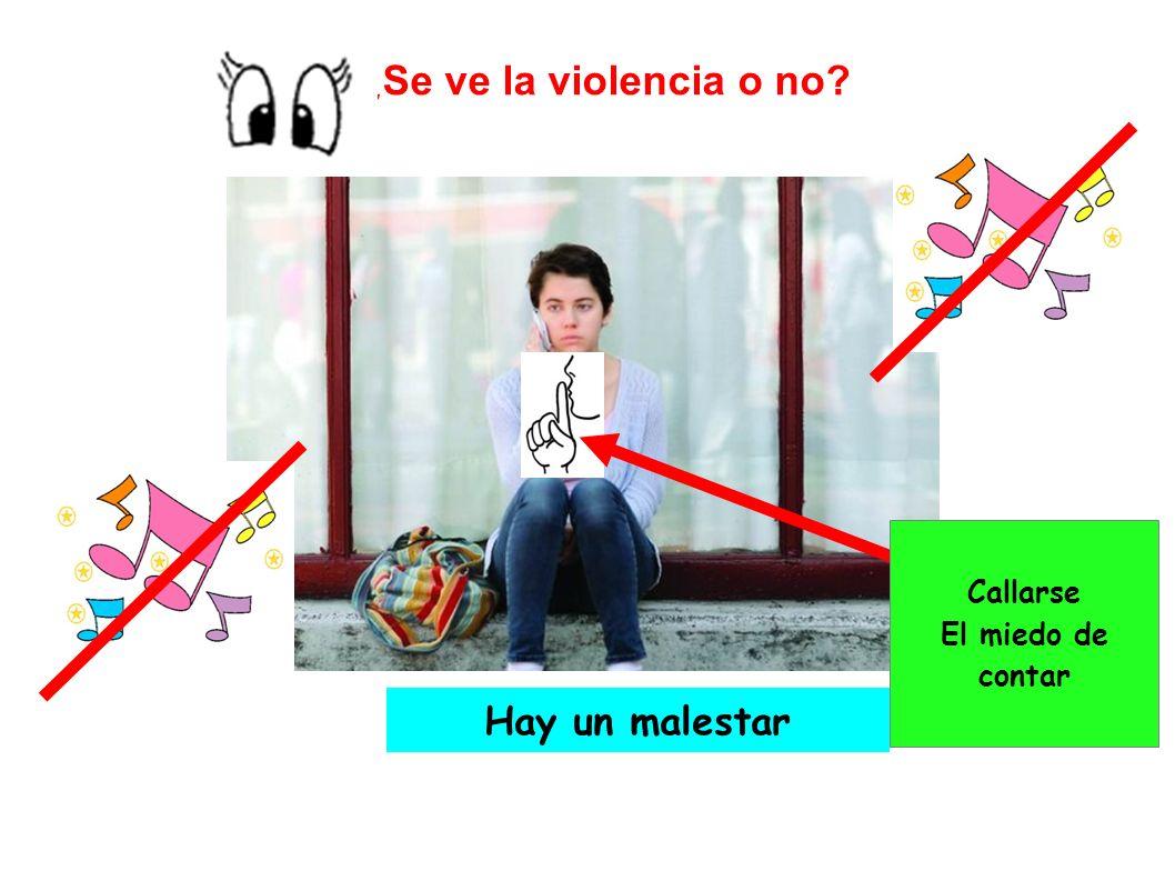 ¿Se ve la violencia o no Callarse El miedo de contar Hay un malestar