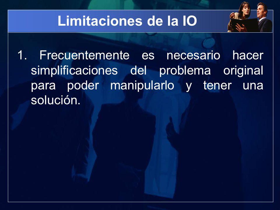 Limitaciones de la IO 1.
