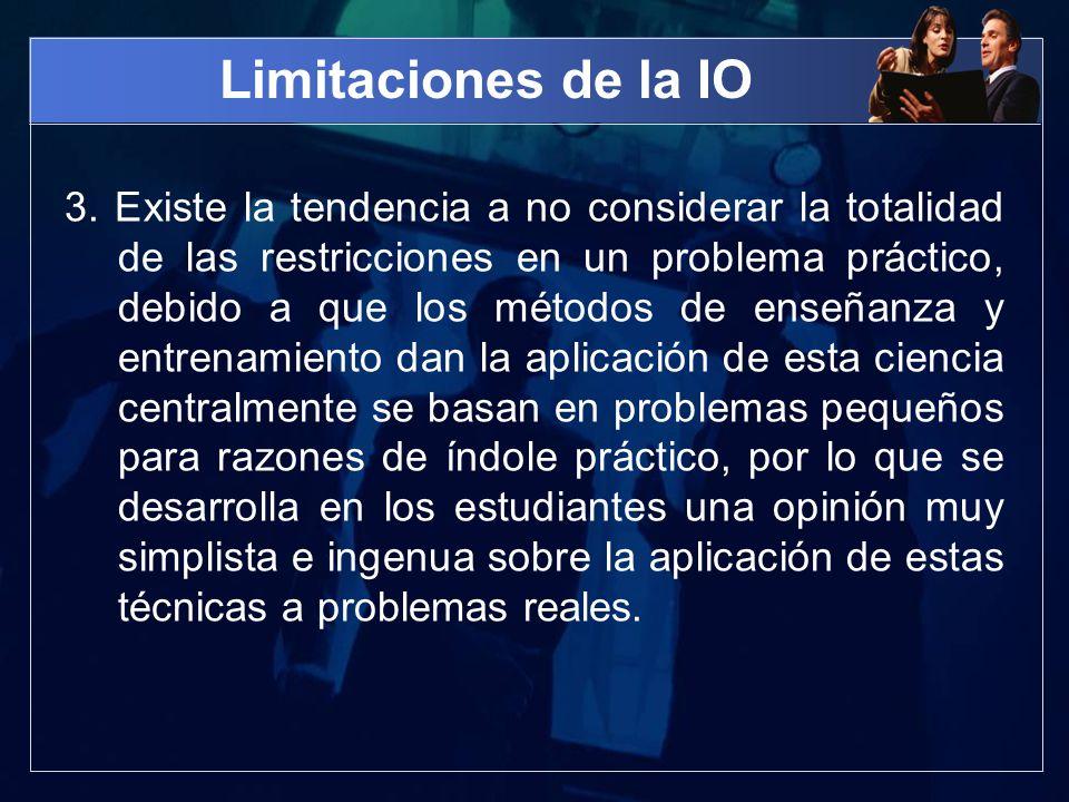 Limitaciones de la IO