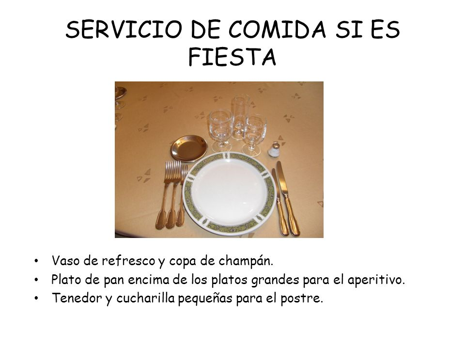 SERVICIO DE COMIDA SI ES FIESTA