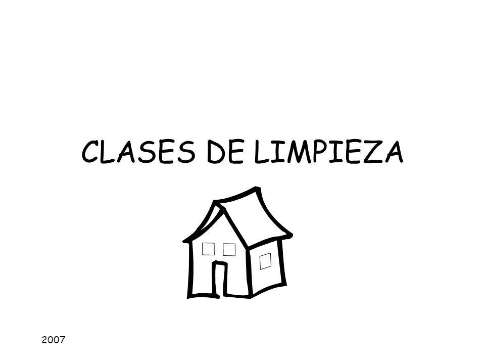CLASES DE LIMPIEZA 2007
